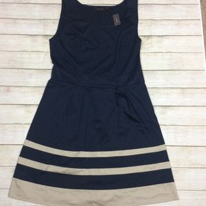 The Limited tan and navy dress
